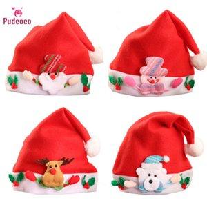 Marque Pudcoco Tout-petit Noël Chapeau garçons bébé chaud Cap Automne Hiver Enfants Chapeau Newborn Photographie Props