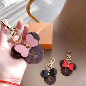 Stylisme femmes Keychain Big Ear Porte-clefs mignon PU Porte-clé Sac Charm Boutique Porte-clés de voiture Souris Designer Porte-clés Accessoires Cadeaux