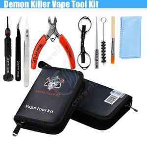 오리지널 악마 킬러 Vape Tool Kit 풀 스타터 세라믹 트위저 벤트 스크류 DIY 프리 빌딩 코일 지그 MODs RDA RBA 기계 및 전자 분무기