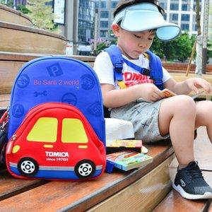 TOMICA shoulder Bag children's backpack car style bag diving material cartoon car backpack light