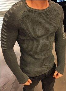 O-pescoço Outono Mens Sweaters O pescoço Moda Oco Designer Slim Fit Manga Comprida Tops