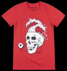 PINK DOLPHIN SKULLNAMI T-SHIRT RED MENS LEGENDS STREETWEAR TEE NWT New Fashion T shirt Brand Hip Hop Print Men Tee Shirt High Qu