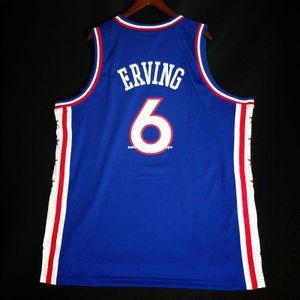 100% Dikişli Julius Erving Dr J Soul yelek toptan Jersey 52 Erkek Yelek Boyutu XS-6XL Dikişli basketbol Formalar Ncaa
