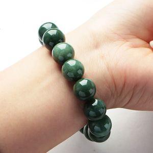 Jadeite Bir Ürün, Doğal Jade Buda İnci Petrol, Yeşil Jadeite Bilezik, Laokeng, Myanmar Yeşim Bilezik, Erkek ve Kadın
