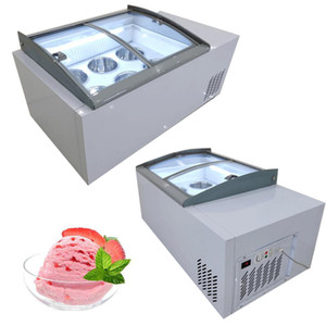 Hot sale ice porridge cabinet commercial ice cream display cabinet for cold drinks shop store supermarket ice cream display cabinet