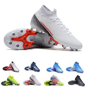 Jogo Prismatico Mercurial Superfly 7 VII Elite AG Soccer Cleats Kinetic Black Blue Hero Neymar Speed LAB2 Laser Crimson AG Kids Youth Boots
