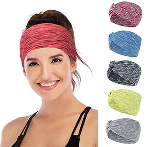 European and American Men's and Women's Headbands Sweat Absorption Face Washing Fashion Cross Hair Accessories Running Headscarf Yoga Exerci