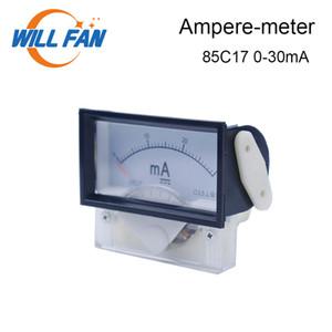 إرادة مروحة العاصمة أمبير متر 0-30mA 85c17 النظير لوحة العدادات مقياس التيار الكهربائي الحالي ليزر CO2 حفارة آلة قطع