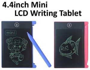 TOP Best 4.4 inch mini LCD Writing Tablet Graffiti Drawing Tablet for Kids Digital Handwritting Pads draft with OPP Bag
