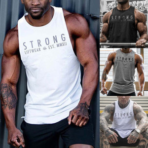 Summer Gyms Fitness Body building Camisetas de tirantes Stringer fashion mens Crossfit clothing Camisas sin mangas transpirables sueltas Chaleco