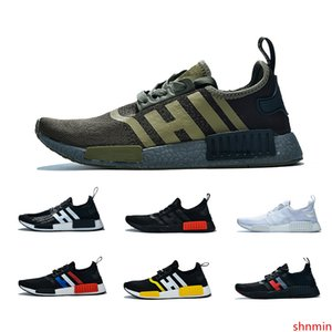 2019 NMD R1 Cheap atmos Bred Running Shoes Tri-Color OG Classic Men Women Japan Triple Black white Red Marble Sports Trainer Sneakers 36-45