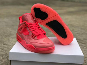4 NRG Hot Punch Черно-вольт Женщины Мужчины Баскетбольные Обувь Женские Спортивные кроссовки празднуют 30-летие с коробкой