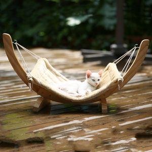 Forniture per animali domestici Amaca Letto in legno massello Gatto Cane Amaca Cucciolata Cane Gatto Altalena Giocattolo all'aperto per esterni