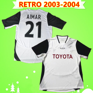Valencia jersey Retro 2003 FINAL soccer jerseys home white classic 03 04 Vintage football shirts #21 AIMAR # 28 OLDFIELD #14 VICENTE