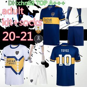 Новые 2020 Boca Juniors футбол Джерси комплект + носки 20 21 Бока Хуниорс GAGO OSVALDO Carlitos ПЕРЕЗ DE ROSSI Тевес Pavón JRS спорт футбол рубашка