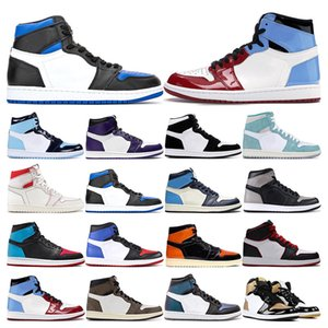 2020 New Mens basketball shoes 1s Game Royal Obsidian UNC to Chicago TURBO GREEN twist Fearless NakeskinJordansneakers