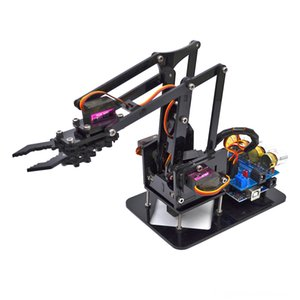 DIY Acrylic Robot Arm Robot Claw for Arduino Kit 4DOF Other Toys Mechanical Grab Manipulator Programmable Toys
