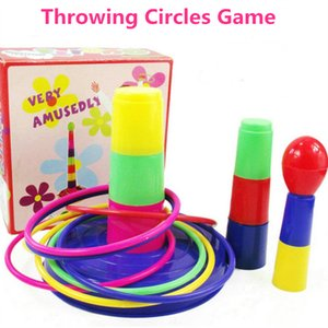Бросая Кольцо Игры Дети Весело Спортивные Игрушки Открытый Игрушка Круг Круг Ferrule Сложены Слои Игры Взаимодействие Родителя и Ребенка Игрушки