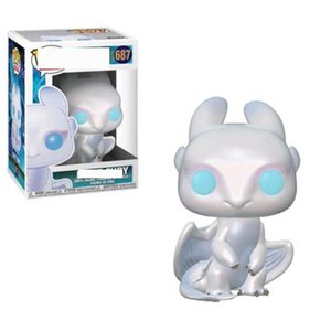 2020 Funko POP How to Train Your Dragons:#687 #686 #100 Toothless Night Fury Toy Light Fury Collectible Action Figure Model Toy