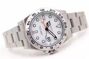 럭셔리 3A Mens M216570 자동 어드벤처 시계 Exp Watch Steel GMT 스테인리스 작업 스트랩 사파이어 화이트 42mm Luminous Movement Qsadl