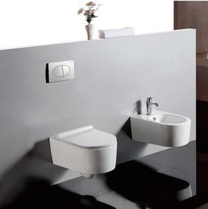 Wand hängen Toilettengarnitur Wand pan Wasserzeichen Zertifikat verdeckter Tank dual Spülknopf Unterputzspülkasten Toilette montiert