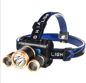 New 20W Aircraft 18650 Battery Induction Headlight Sensor Light 3 LED Headlamps camping hiking cycling running head lamps lights