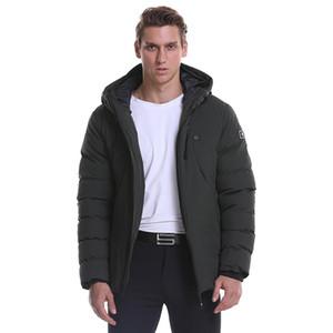 USB Jacket aquecida Inverno Homens Mulheres trás e Collar Aquecimento Grosso Parka sólidos Jacket Plus Size Clothes Homens de Inverno