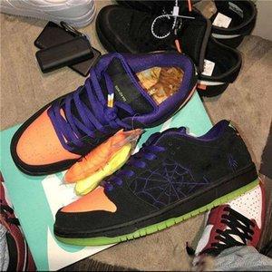 개구장이 블랙 총 오렌지 법원 퍼플 볼트 할로윈의 2019 새로운 도착 SB 덩크 로우 밤 신발 MenSneakers 실행