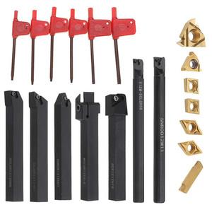 7 Set 12mm Shank 45HRC Tour Boring Décolletage de supports pour outils avec inserts en carbure pour semi-finition et de finition