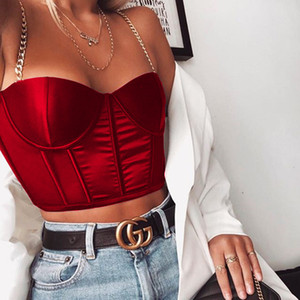 Hot Style Женщина Дизайнер Топы Мода без бретелек Metallic Спагетти ремня Тонкого жилет лето Сексуальной женской одежды