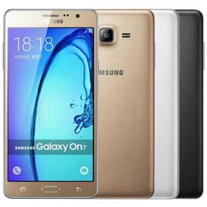 Samsung Galaxy à nouveau rénové Samsung Galaxy On7 G6000 Dual Sim 5,5 pouce Quad Core 1.5GB RAM 16GB ROM 13MP 4G LTE téléphone portable mobile gratuit DHL 5PCS