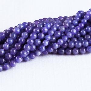 Высокое качество Природные Подлинная Танзания Tanzanite Темно-фиолетовый Синий Gemstone камни Круглый Loose Бусины 7мм 8мм 05306