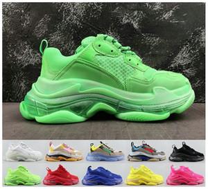 2020 Crystal Fashion inferior calçados casuais Triple S Pista 2.0 Old Dad Sneaker Combinação nitrogênio sola Mens Tripler Sneakers 36-45