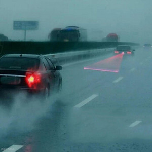 Автомобильная светодиодная Лазерная противотуманная фара автомобиля анти-столкновение задний фонарь тормозная сигнальная лампа