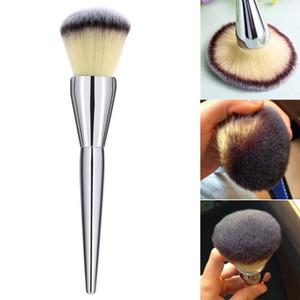 Large Makeup Brushes Loose Powder Blush Liquid CC Foundation Brush Silver Beauty Make up Brushes Tools