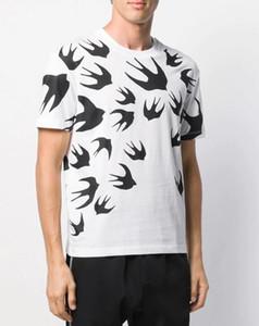 erkekler kısa kollu tişört Kırlangıç Tişört mq kısa kollu baskı ile 2020 Sıcak tarzı Yaz Üst Kalite Erkek Pamuk Tişört