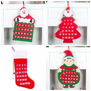 Süsleme Moda Tasarımı Sıcak Satış 17yhH1 Asma Christmas House kolye Geri Sayım Takvim Lockscreen Takvim Çoklu Şekli Kapı
