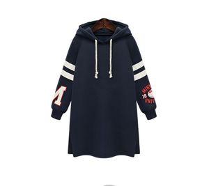 Designer Womens Hoodies Dress Fashion Damen Teenager Casual Frühling und Herbst Kleidung Split Fleece Warm Dress