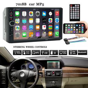 7 pouces Double 2 Din voiture écran MP5 stéréo commande au volant Radio FM