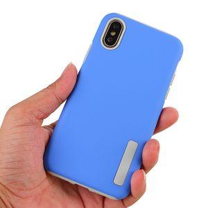 Dual Layer 2 em 1 Matte Telefone caso capa protetora para LG G7 Q6 Q7 K8 K10 2,018 Q Stylus à prova de choque Shell