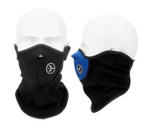 Hiver chaud Ski neige écharpe Moto Demi Masque Couverture Balaclava Sports de plein air du cou Protection Masque moto Visage