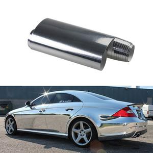 En gros 50 cm * 152 cm / 60 cm * 152 cm PVC autocollants de voiture Flexible Chrome Argent Chrome Autocollant De Voiture Film Étirable Chrome Autocollant