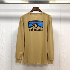 Autumn patagonia Pullover Pullover Männer Langarm Sweatshirts Hip Hop streatwear Lose Sport Anzug Schwarz Tracks