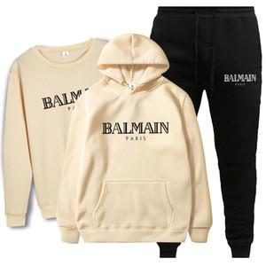 Balmain nuovo modo del vestito 2020 Uomini Sportswear Stampa uomini felpe con cappuccio Pullover Hip Hop Uomo Tuta Felpe Abbigliamento