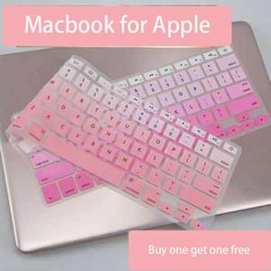 Apple MacBook Laptop Için 13.3 inç Çok Renkli Su Geçirmez Klavye Koruyucu Film Karikatür Pembe Sevimli Silikon