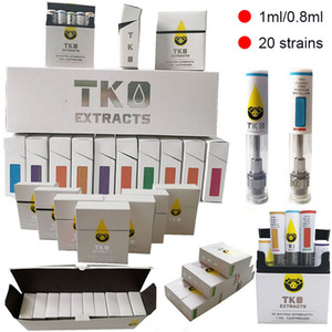 TKO Vapes 0,8 ml 1 ml Keramik Atomizer leeren Vape Cartridges Verpackung Öl Dab Pen Wax Vaporizer 510 Thema E-Zigaretten
