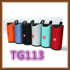 Haut-parleur Bluetooth TG113 sans fil Haut-parleurs Subwoofers Appel mains libres Profil stéréo Bass soutien TF carte USB AUX Entrée ligne Salut-Fi fort
