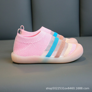 2020 spring and summer children's flying mesh Shoes Boys' breathable sports shoes girls' single baby kindergarten indoor s