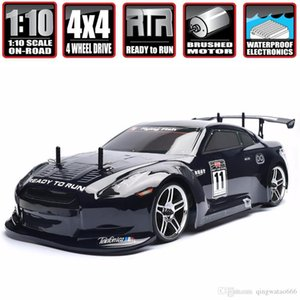 HSP corsa Rc Drift Auto 4WD 1:10 Electric Power On Road Rc Auto 94123 flyingfish 4x4 veicolo ad alta velocità Hobby Remote Control Car
