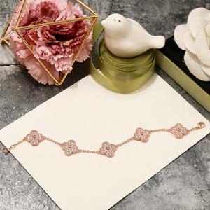 2019 Nuovo braccialetto quattro fogli Cinque Fiore lungo ciondolo zircone Per i gioielli di marca del progettista del progettista delle donne moda per le donne
